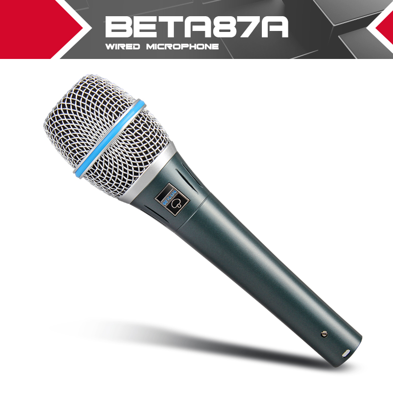 Free Shipping High Quality Dynamic Capsule BETA87A Beta 87A Supercardioid Vocal Microphone With Amazing Sound