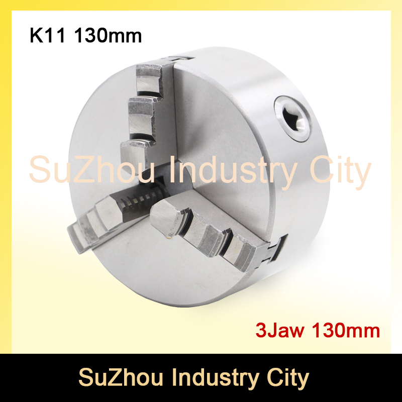 CNC 4th axis A axis 130mm 3 jaw Chuck self-centering manual chuck K11 fourth jaw for CNC Engraving Milling machine Lathe Machine