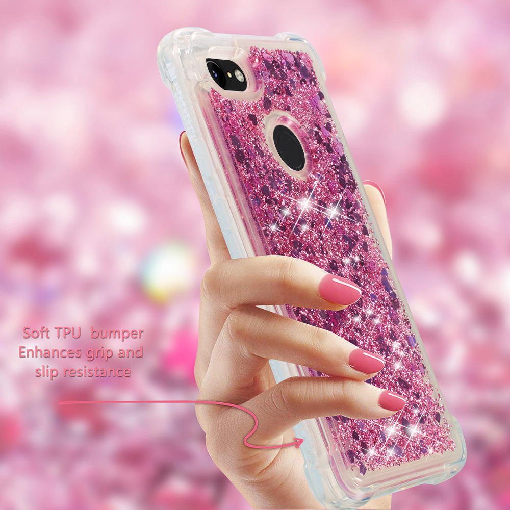 Orderly Uxpress Shockproof Glitter Liquid Sand Quicksand Heart Case For Google Pixel 3/3 Xltransparent Drop Resistant Tpu Cover Coque Half-wrapped Case Cellphones & Telecommunications