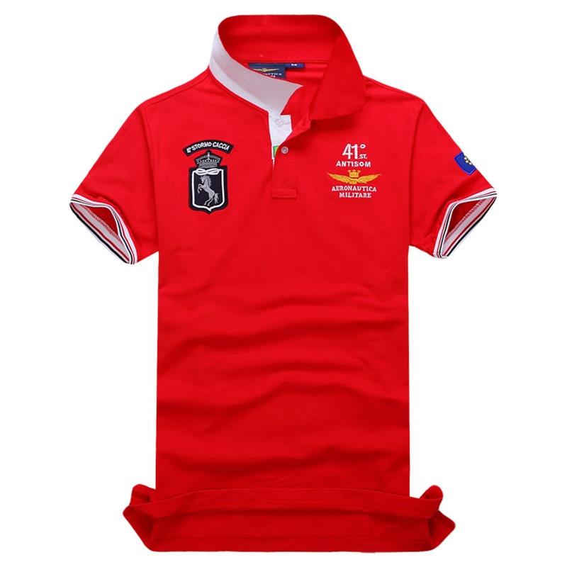 c003827974 Camisas Masculinas Polo calvin Australiano de alta Qualidade de VAREJO Camisa  POLO Dos Homens AERONAUTICA MILITARE Air Force One Bordado em Polo de Dos  ...