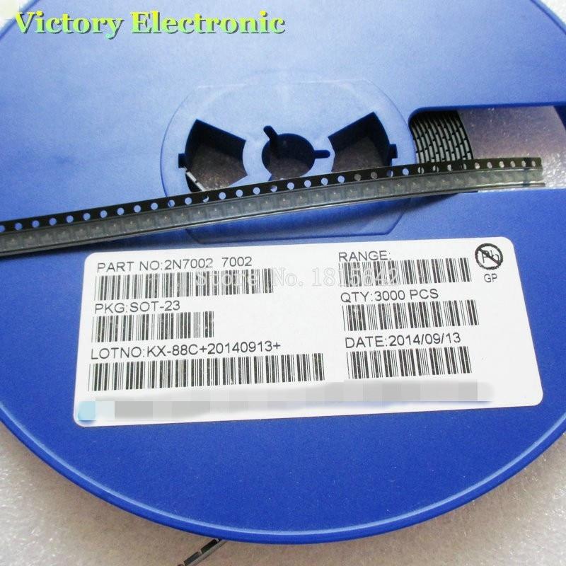 MOSFET de señal pequeña, 100 unids/lote, 2N7002LT1G SOT23 2N7002 SOT SMD 702, 60V, 115 mA, Canal N, nuevo y original