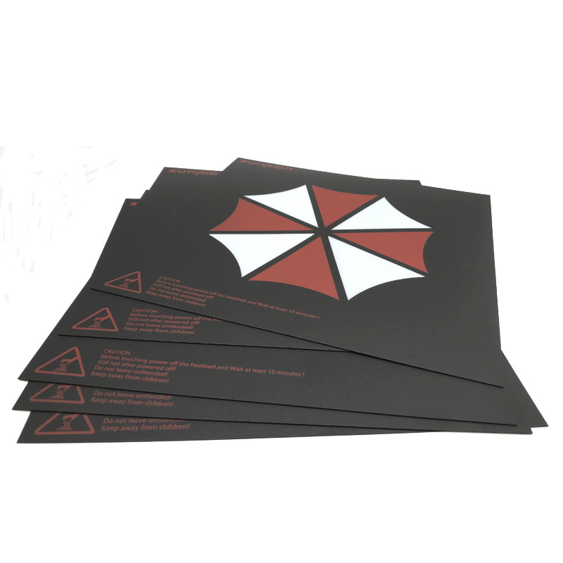 300 300 Heat Hot Bed Sticker Hot Bed Surface Sticker Black Frosted Heated bed For creality CR 10 3D Printer Parts 1PCS LOT in 3D Printer Parts Accessories from Computer Office