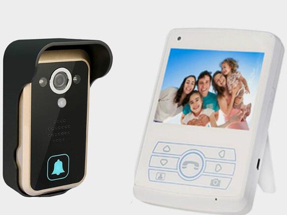 3.5 Inch 120 Degree Motion Detection Wireless Intercom Video Doorbell