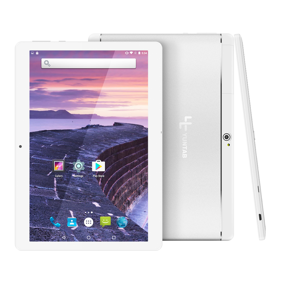 Yuntab gümüş alaşım K17 Tablet PC Android 5.1 unlocked smartphone ile çift kamera 0.3MP + 2MP IPS1280 * 800 Bluetooth4.0
