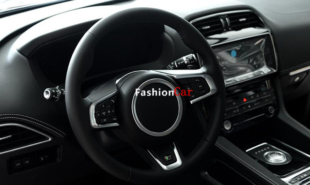 For Jaguar F-Pace f pace 2016 X761 Car Steering wheel Trim Cover Logo Ring 1pcs