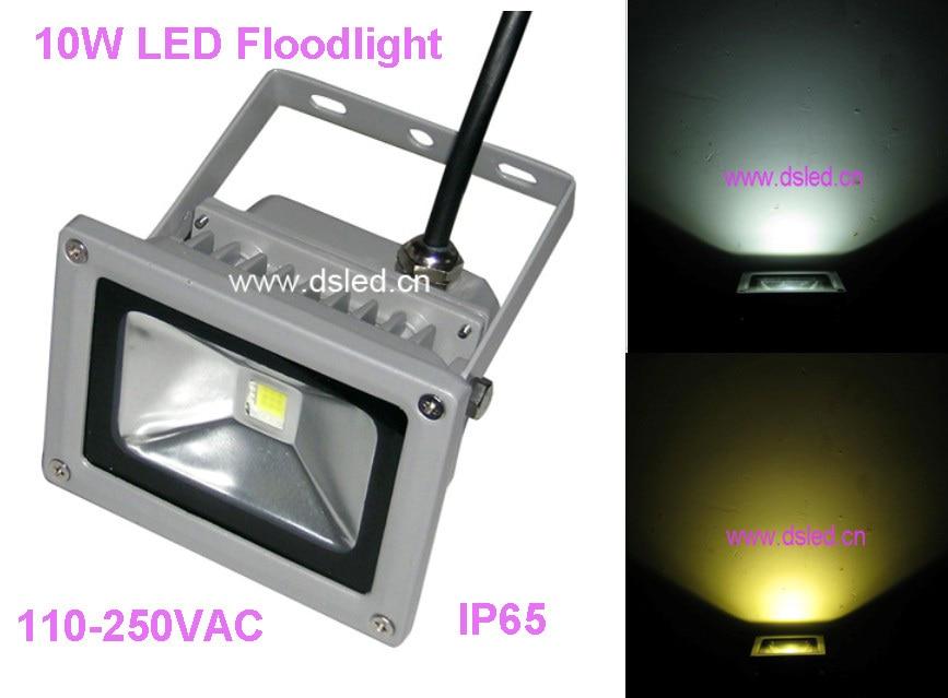 , labas kvalitātes, 10W LED gaismeklis, āra LED prožektors, ūdensnecaurlaidīgs, 110V / 220VAC, DS-TN-05-10W, 2 gadu garantija.1 * 10W mikroshēma
