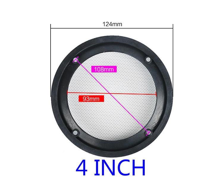 GHXAMP 2 UNIDS 4 pulgadas 5 pulgadas 8 pulgadas Car Speaker Grill - Audio y video portátil - foto 4