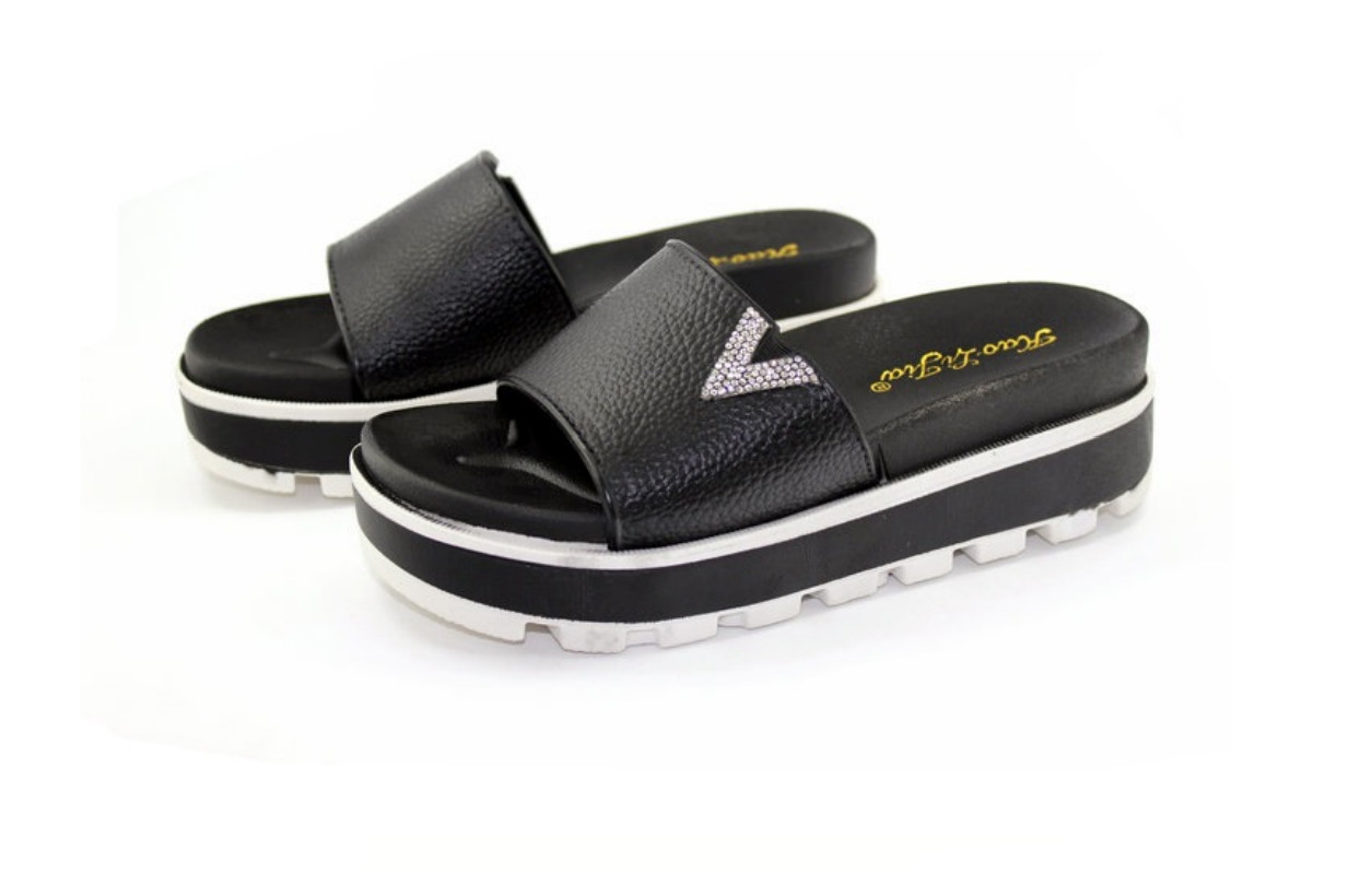 Chanclas Tacón Playa Blanco De Caliente 2018 Negro Wedge Zapatillas Las Baño Zapatos Damas Marca Mujer Plataforma Mujeres Alto Para Eva 480Hvq