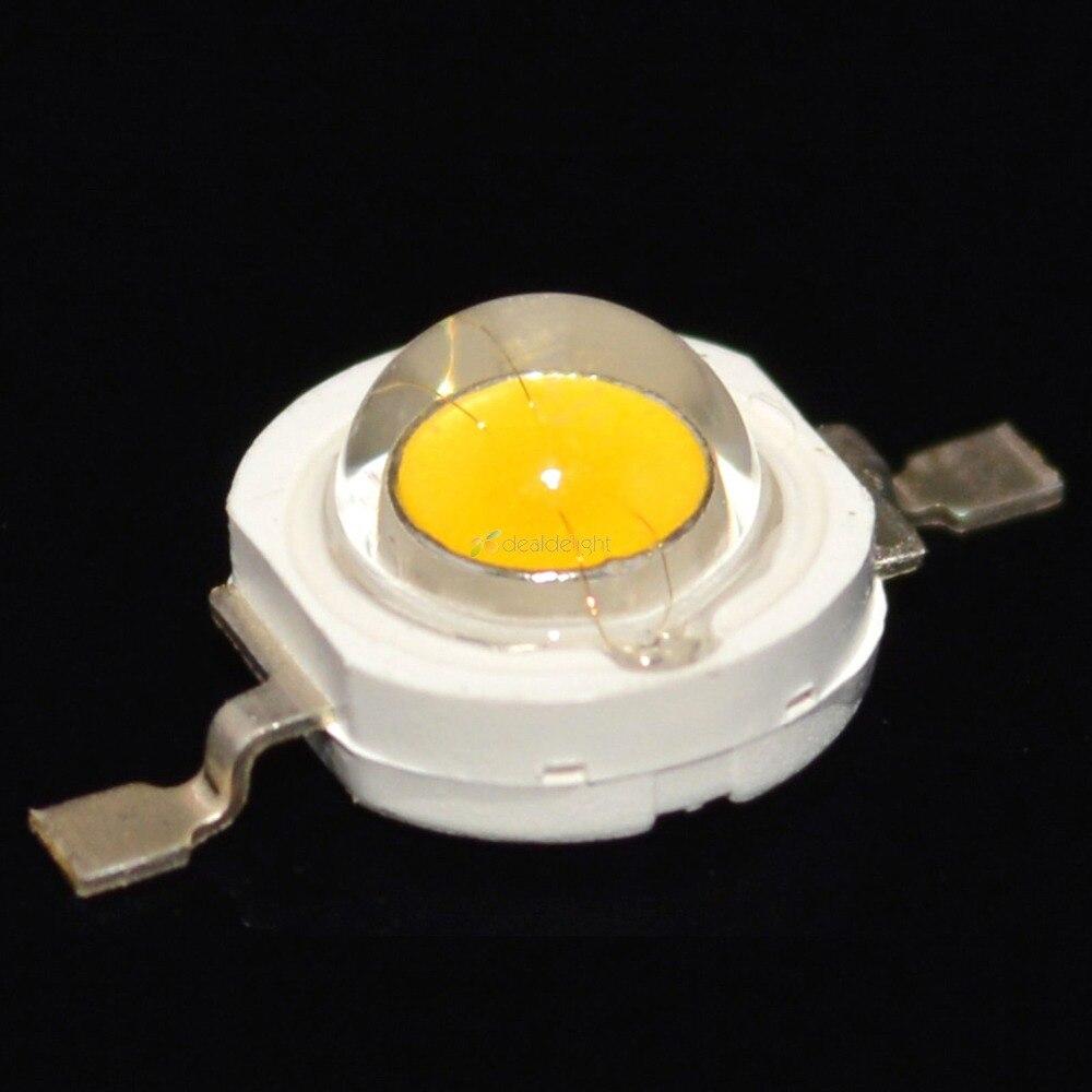 10PCS 1W Warm White High Power LED Bead Emitter Epiled from taiwan DC3.6-3.8V 350mA 80-90LM 3300K Without Base