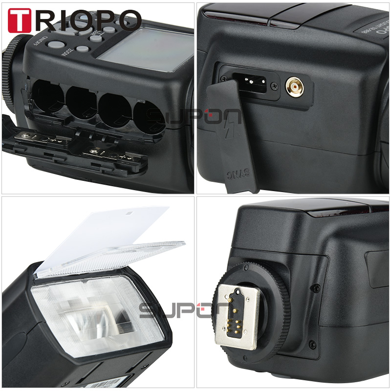 TRIOPO TR-988 Flash professionnel Speedlite TTL caméra Flash avec synchronisation haute vitesse pour Canon et Nikon appareil photo reflex numérique Top vente - 5