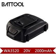 1 X Bateria Recarregável de 2000 mAh 20 V Li-ion WA3520: WORX WA3520 WG545 WG155 WG255 WG251 WG151 WG151.5 WG155 WG155.5