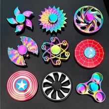 Fidget Spinner Metal Mini Multi Rainbow Color Tri Hand Finger Spinner Set EDC Quiet Wheel Kid