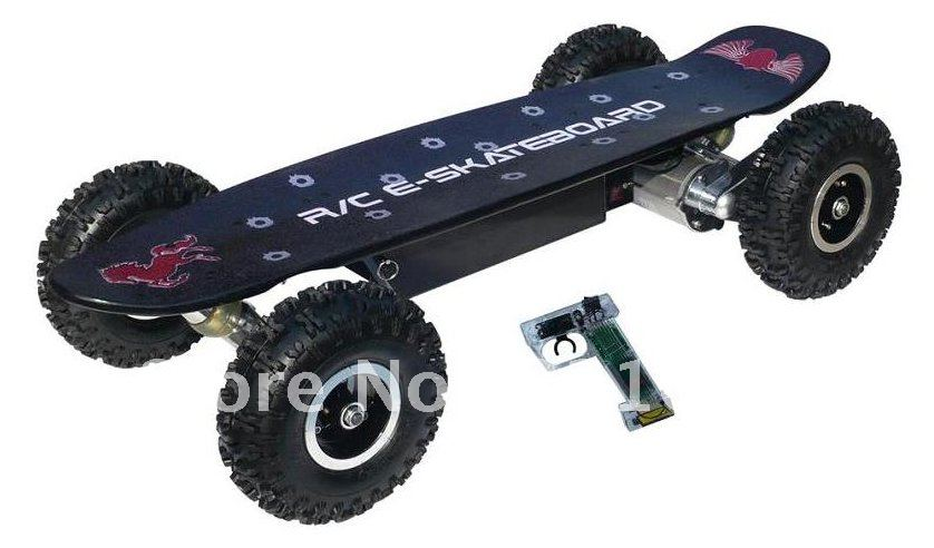 800w electric skateboard with off road tires in electric. Black Bedroom Furniture Sets. Home Design Ideas