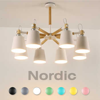 chandelier for living room hanging modern pendant ceiling lamps scandinavian Nordic Wood White led suspension luminaire room - DISCOUNT ITEM  43% OFF All Category