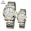 2017 Amantes Tira de Aço Negócio Relógio dos homens À Prova D' Água Diamante Relógio de Quartzo Homens E Mulheres Relógios Feminino Relogio masculino