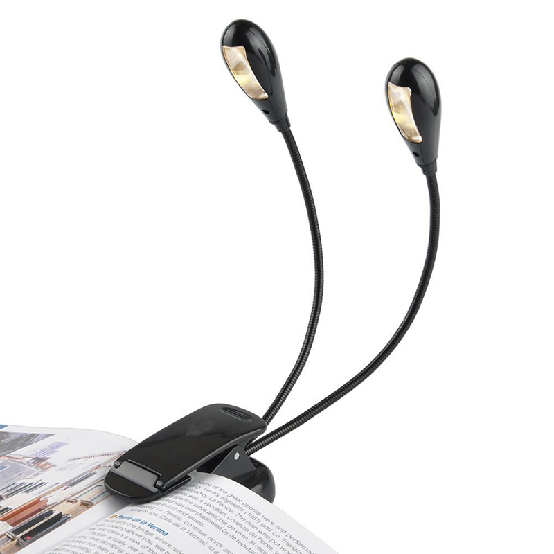 Portable Music Stand Light - Clip On Book Reading LED Lamp-4 LEDs,4 Level Adjustable Brightness, Suit for Music Stands 24 led music stand light 2 level change easy to carry foldable fl 9032