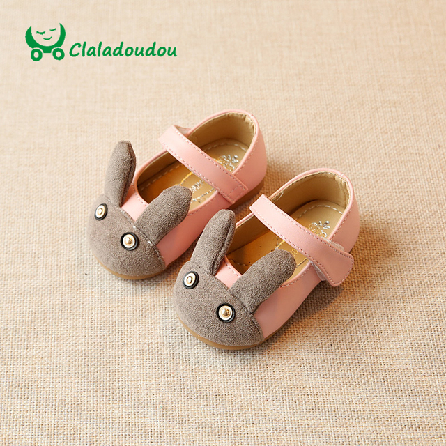 Claladoudou 11.-13.7CM Insole Baby Shoes Flower Suede Cute Shoes For Toddler Girls Spring Princess Infant Girl Shoes Soft Sole