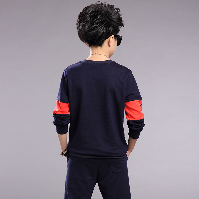 Boys clothing sets spring Baby Sets fleece cotton boy tracksuits Kids sport suits cartoon coats/sweatshirts+pants