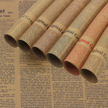 Classic Style Old English Newspaper Kraft Paper Photography Backdrops Photo Shooting Background Props for Flowers Food Fruit