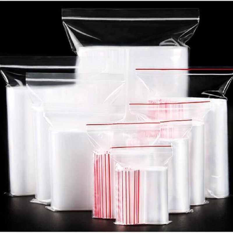 100PCS 13X19CM Smell Proof Bags Clear Plastic Bag Reusable Ziplock Bag Food Packaging Bag Food Wrap Plastic Wrap Food Pouch