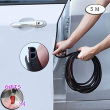 Car Door Edge Guards Trim Rubber Seal Protector B Shape Sound Insulation Upgrade Two In One Fit Most 5M CB005