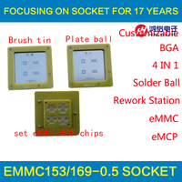 EMMC EMCP Reballing Tool 4 In 1 BGA Rework Station EMMC153 EMMC169 EMCP162 EMCP186 Reball Jig