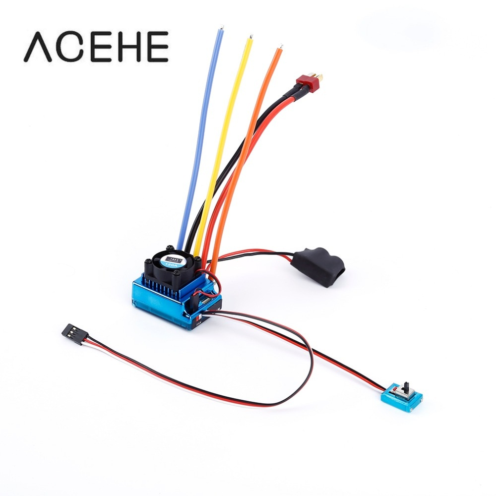 120a Esc Sensored Brushless Speed Controller For 1 8 1 10