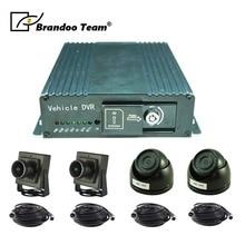 1080 P MDVR Kit 4 Canali SD DVR Mobile Kit, Tra Cui 4 pcs 2.0MP AHD Videocamera per auto Per 4 Telecamere di Sicurezza sistema di