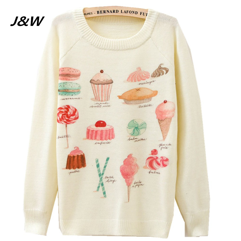 J&W Winter Sweater Women Casual Kniited Christmas Warm O Neck ...