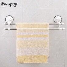 POSEPOP Stainless Steel Bath Towel Holder Bathroom Towel Bar Kitchen Holder Hanging Toilet Towel Holder Towel Racks 40CM