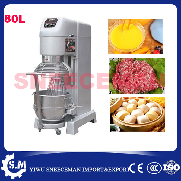 80L Multifunctional manual dough mixer machine with 30kg flour stainless steel electric dough mixer maker machine