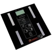 Цифровой тела Вес измерения Подсветка жира Шкала Баланс весы (черный)