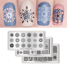BORN PRETTY Rectangle Nail Stamping Template Mandala Manicure Arab Passion Art Plates Image Plate Tool