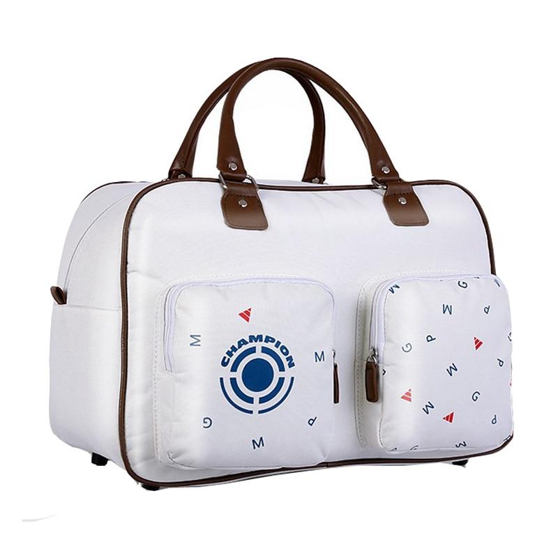 ФОТО PGM Golf Bag Clothing/Gun Bag Waterproof Nylon Large Capacity Independent Shoe Standard Ball Package Printing Series