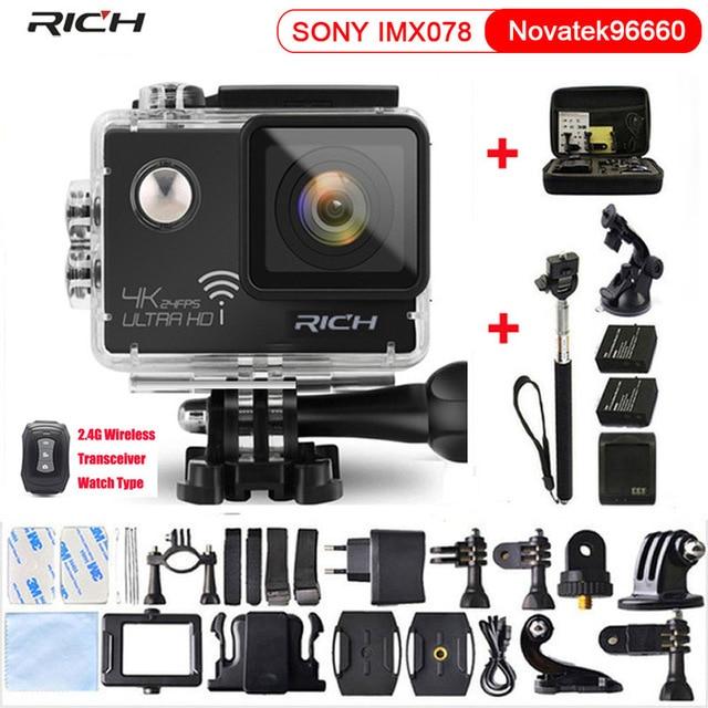 Action Camera HD 4K 1080P Novatek 96660 Wifi Waterproof Helmet Diving Mini Cam Extreme Mini Sport Camera стоимость