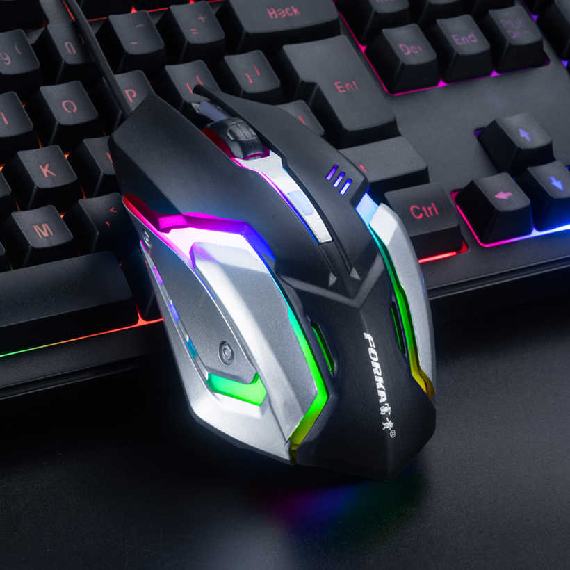 Mute Wired Gaming Mouse Gamer 2400DPI Silent Click Optical USB Computer Mouse Mice for PC Laptop Mouse for CSGO LOL Dota 2