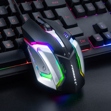 Mute Wired Gaming Mouse Gamer 2400DPI Silent Click Optical USB Computer Mouse Mice for PC Laptop Mouse for CSGO LOL Dota 2(China)