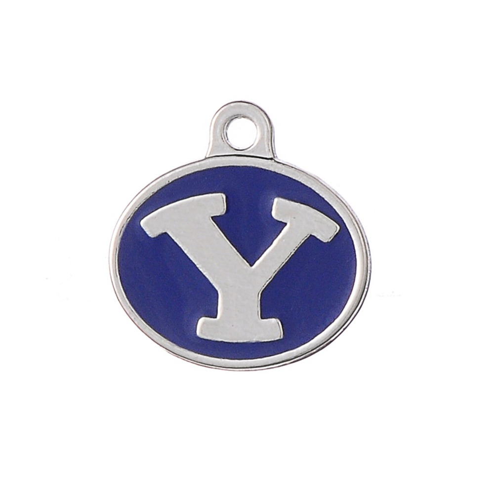 Skyrim Byu Brigham Young University Cougars Enamel Ncaa Double Sided Charm  Zinc Alloy Pendant For Necklace