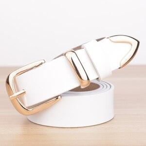 Image 5 - Real Cowskin Leather Fashion Designer Belt Women Brands Belt 2019 Hot Women Candy Color Strap Belts