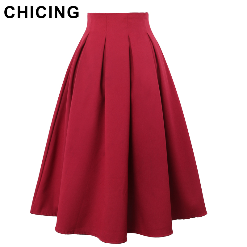 chicing pleated skirts 2016 summer vintage high