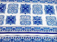 2016 NEW Collection Fashion Jacquard Brocade Fabric Blue White And Red White Printed Fabric