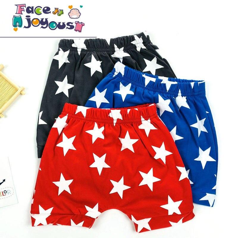 Baby Boys Summer Cotton   Shorts   Baby Cute PP Pants Kids Girls Red/Blue/Dark Gray Stars Printed   Shorts   2019 Summer Baby Clothing