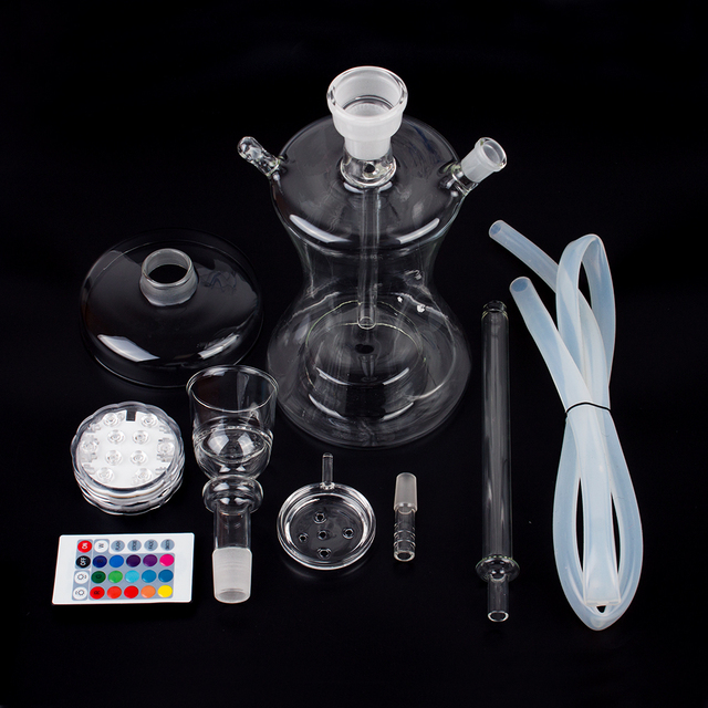 Complete Set with Multicolor LED Light Smoking Water Pipe 4