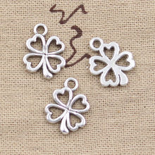 20pcs Charms luck irish four leaf clover 17x14mm Antique Making pendant fit,Vintage Tibetan Silver Bronze,DIY bracelet necklace(China)