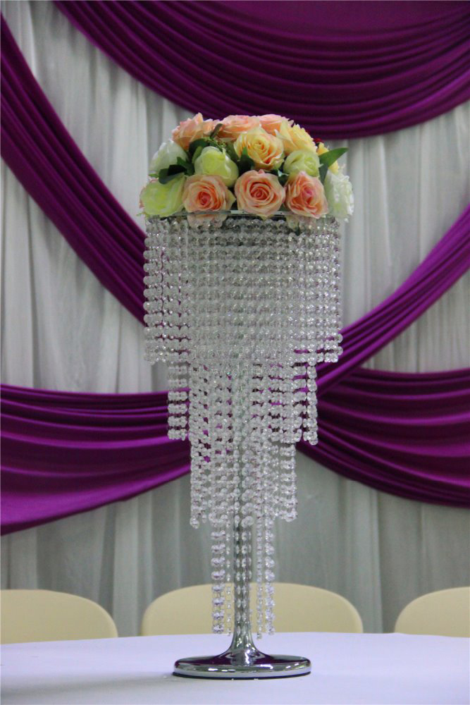 45cm tall crystal flower stand table center decoration wedding 80cmh crystal wedding centerpiece flower stand table decor wedding chandelier wedding supply 10 junglespirit Image collections
