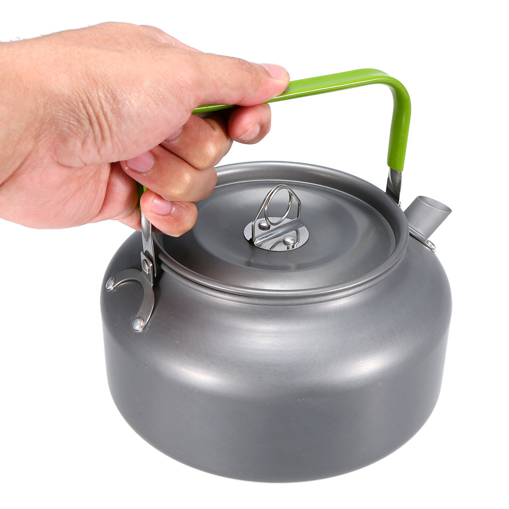 0.8L/1.4L Portable Teapot Ultra-light Outdoor Water Kettle Pot Hiking Camping Survival Water Kettle Coffee Pot Anodised Aluminum