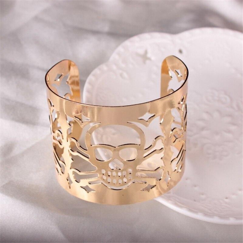 HTB1IaBILpXXXXc7XpXXq6xXFXXXO - Adjustable Punk Style Cut-out Skulls Bracelet