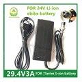 29.4V3A Carregador Carregador de Bateria De Lítio para a bicicleta elétrica série 7 24 V Li-ion Battery pack XLRF XLR 3 soquetes/conector