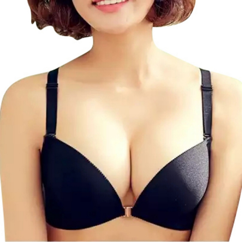 <font><b>Sexy</b></font> Women Deep V <font><b>Bra</b></font> No Trace Brassiere Seamless Push Up Padded <font><b>Bra</b></font> Lingerie Underwear 32 34 36 <font><b>38B</b></font> image