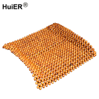 HuiER universal Car Seat Cover Natural Wood Beads Auto Accessories Interior Breathable Car Seat Cushion Protector Car Styling